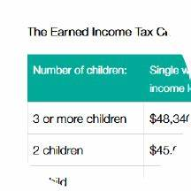 Earned Income Credit Table 2018 Brokeasshome Com