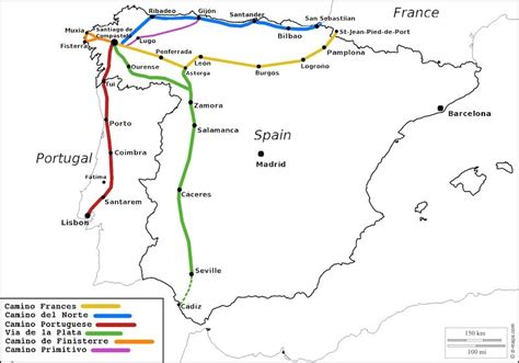 camino santiago map camino de santiago routes which way