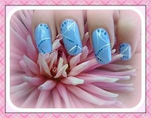 Baby Blue Nail Art - Nail Art Design From CoolNailsArt