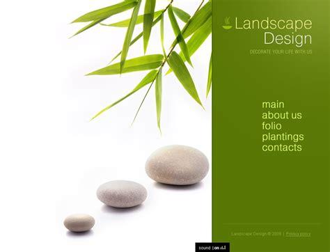 landscape design flash template