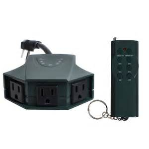 Outdoor outlet strip control