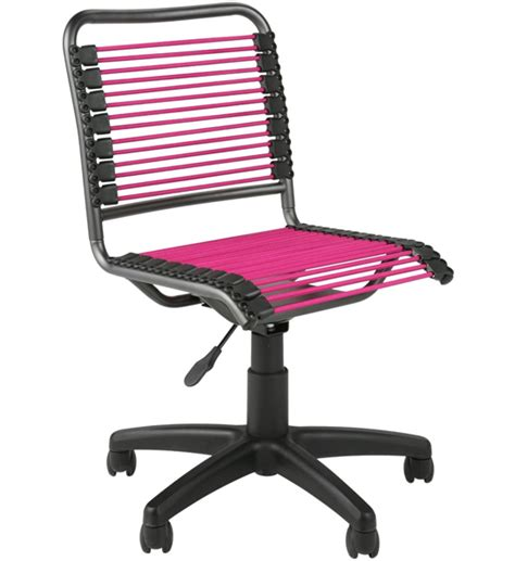 Bungee Office Chair by Bungee Low Back Chair Pink And Black In Armless Office