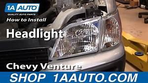 How To Install Replace Headlight Chevy Venture Pontiac Montana More 97-05 1aauto Com