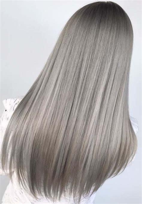 amazing long straight grey hairstyles