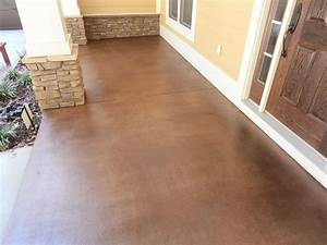 Stained concrete ideas for exterior patios porches for Stained concrete patio designs