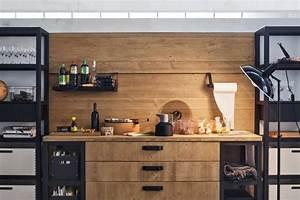 Cuisine Style Industriel Bois : meuble moderne pour cuisine bois d 39 ambiance authentique ~ Teatrodelosmanantiales.com Idées de Décoration