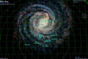 Milky Way Galaxy Chart - Pics about space