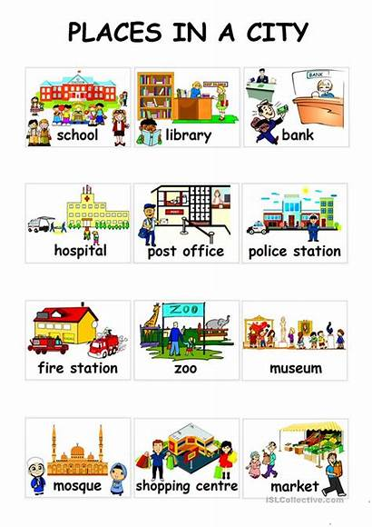 Places Esl Worksheets English Islcollective Activities Worksheet
