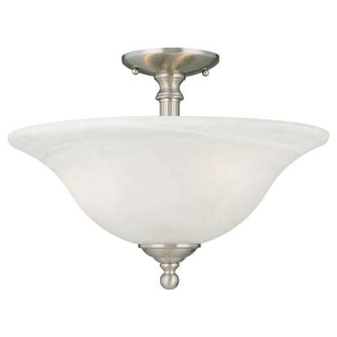 lighting riva 3 light brushed nickel ceiling semi