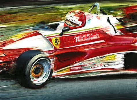 E mesmo utilizando o carro do ano anterior a ferrari conseguiu um domínio quase avassalador nessas provas: Niki Lauda on Ferrari 312 T2 Nürburgring 1976 - Andrea Del Pesco - Artwork Celeste Network