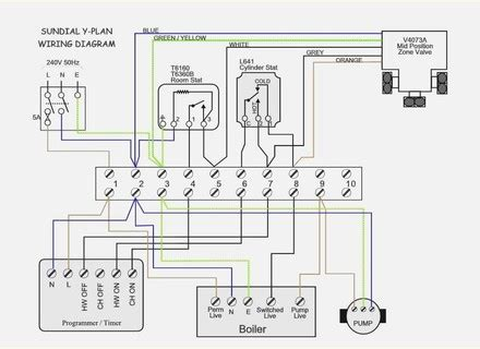 Wiring Diagram Y Plan by Honeywell Sundial Y Plan Pack 7 Day Y606a1003 Sundial