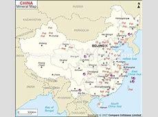 China Mineral Map Natural Resources of China