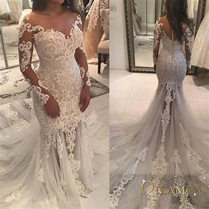 2019 Vintage Lace Mermaid Wedding Dress Turkey Vestido De