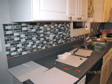 diy tile kitchen backsplash easy diy glass tile backsplash home