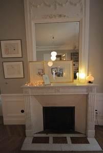 Repeindre Une Cheminée : deco photo marbre et appartement familial chic et doux ~ Voncanada.com Idées de Décoration