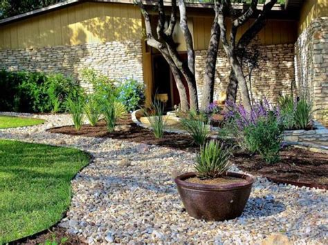 landscaping  gravel  stones  garden ideas