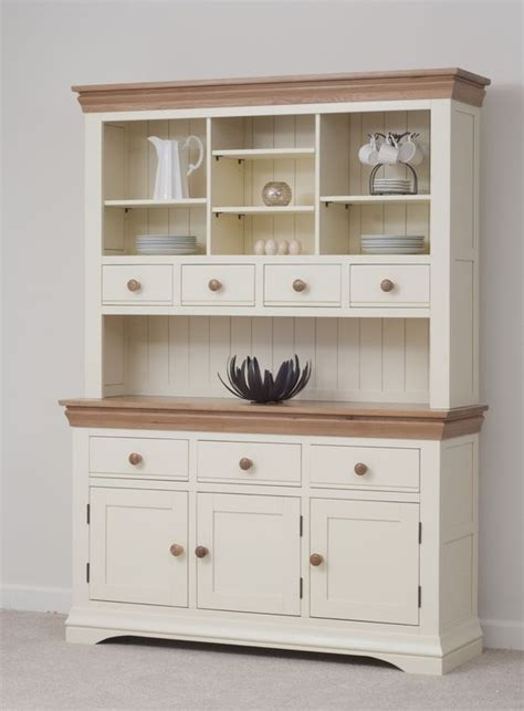 country cottage painted funiture cabinet cream large