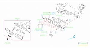 2014 Subaru Crosstrek Glove Box Housing  Lower  Black