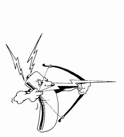 Bolt Lightning Coloring Lighting Arrow Drawing Battery