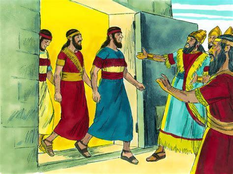 freebibleimages  men stand   god meshach