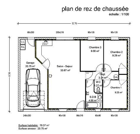 plan maison plain pied 3 chambres gratuit plan plain pied 3 chambres gd22 montrealeast