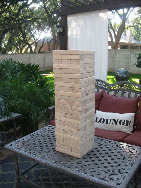 Hometalk   Giant Yard Jenga Game!