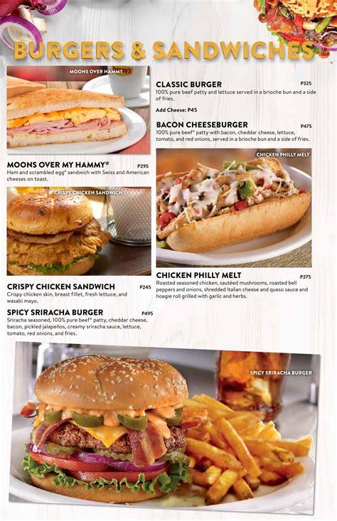 Denny's Diner Menu | ClickTheCity Food & Drink