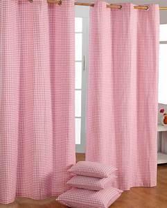 Gardinen Mit ösen : gardinen mit sen gingham karo rosa im 2er set homescapes ~ Indierocktalk.com Haus und Dekorationen