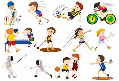 Sports Different Kinds Doing Vector Clipart Vectors