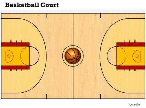 basketball court powerpoint template  powerpoint