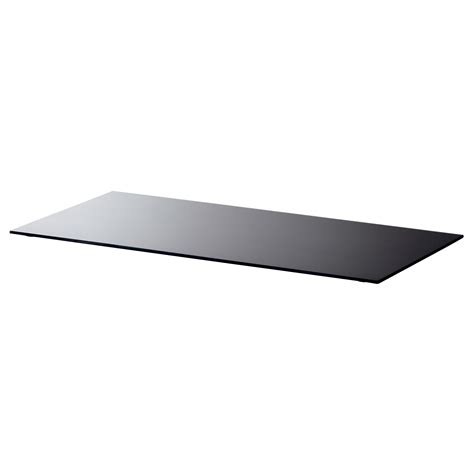 ikea glass tops for tables glasholm table top glass black 99x52 cm ikea