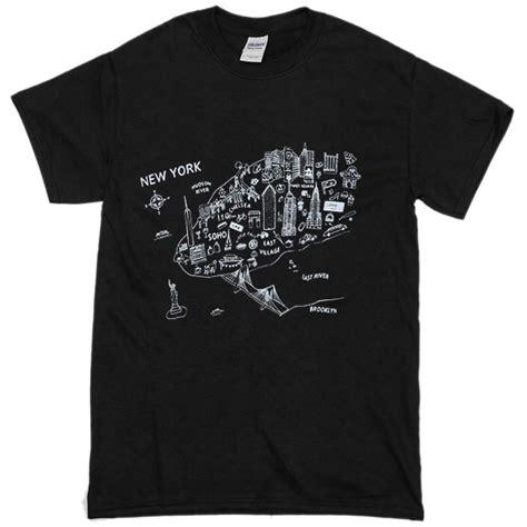 T Shirt Kaos New York new york city maps t shirt