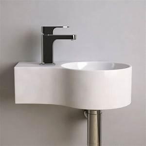 Lave Main Ceramique : lave main gain de place 43x27 cm c ramique atsuo ~ Edinachiropracticcenter.com Idées de Décoration
