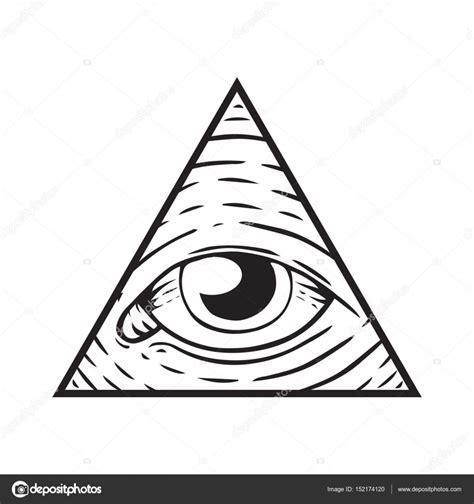 occhio illuminati segno degli illuminati occhio di dio vettoriali stock