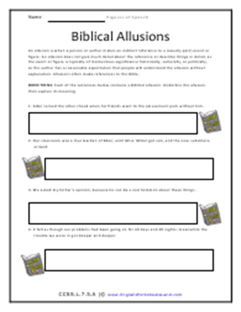 Allusion Worksheet Bluegreenish