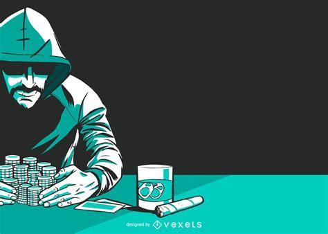poker player vector graphic vector