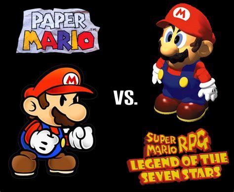 Super Mario Rpg Legend Of The Seven Stars Vs Paper Mario