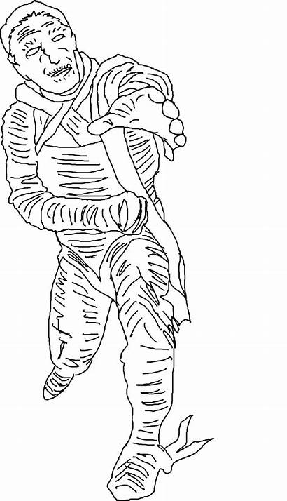 Coloring Printable Pages Mummy Halloween Scary Realistic