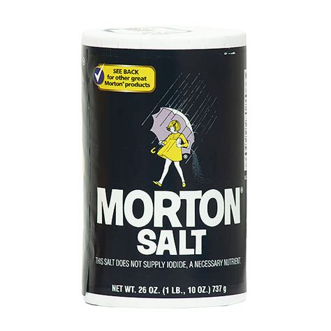 Morton Plain Salt 26 Oz Sugar Salt Flour Home Goods