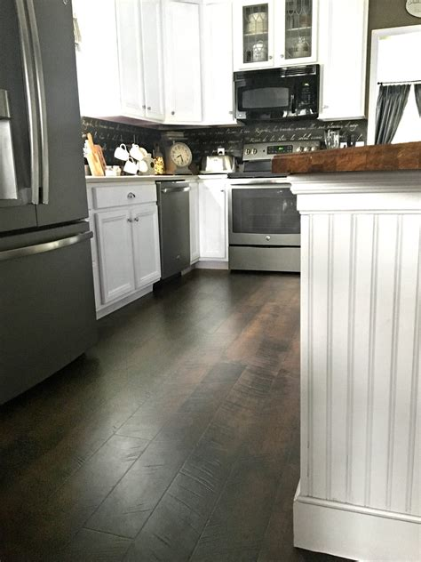pergo flooring  kitchen reveal snazzy