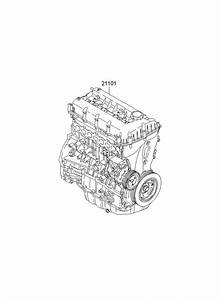 2012 Hyundai Tucson Engine Assembly - Sub