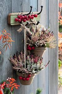 Deko Für Terrasse : autumn decoration outdoor herbst deko mit heide f r balkon und terrasse deko pinterest ~ Sanjose-hotels-ca.com Haus und Dekorationen
