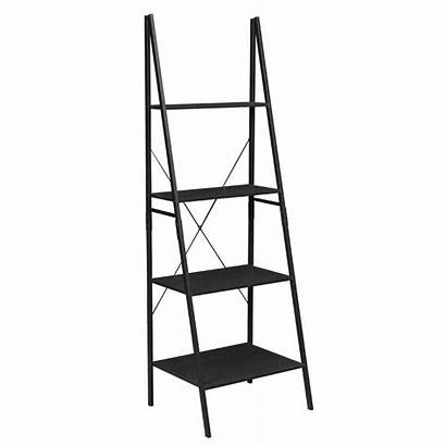 Ladder Bookcase Shelf Ebony Bookcases Soho Niche
