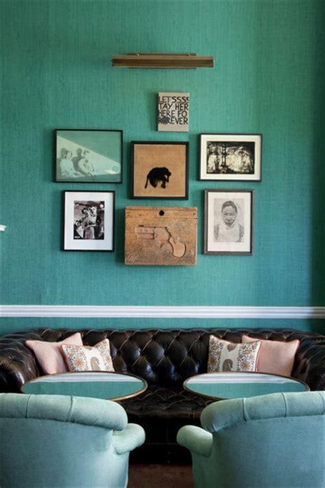 babington house teal interiors  color