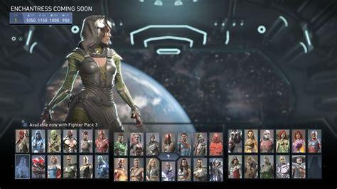 injustice enchantress select screen imgur games miscellaneous