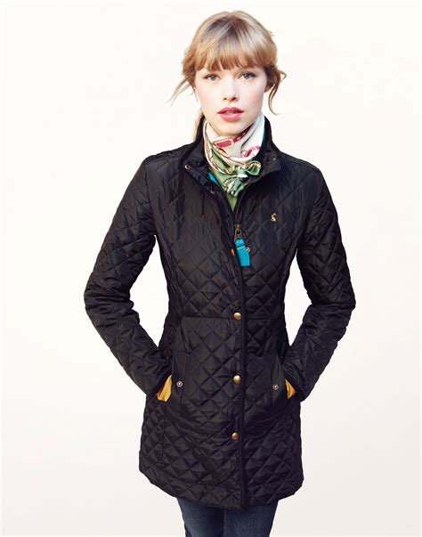 quilted jacket womens fairhurst womens lightweight three quarter length quilted