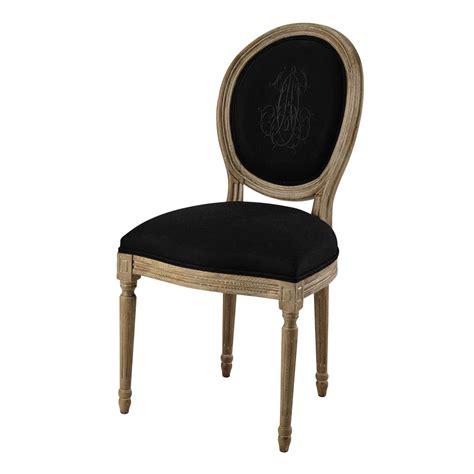 chaise médaillon maison du monde chaise médaillon en noir et chêne grisé louis maisons du monde