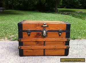 antique refinished steamer chest vintage flat top coffee With chest coffee tables for sale