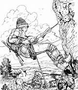 Ausmalbilder Kleurplaten Hidden Printable Coloring Kleurplaat Bergbeklimmen Sporten Adults Mountain Deportes Dibujos Malvorlagen Climbing Etika Meisje Colorare Adult Tebing Panjat sketch template