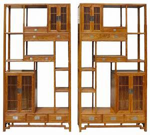 Oriental bookcase, asian style display cabinet oriental ...